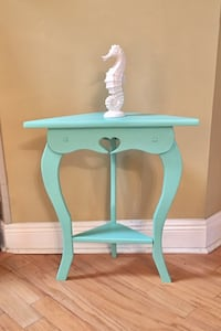 Wood accent table done in sea glass coastal colors  Mandeville, 70448