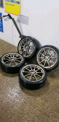 4  18in sparco wheels  4x100 rims and tires
