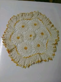 "Early hand made doily 17"" Thibodaux, 70301"