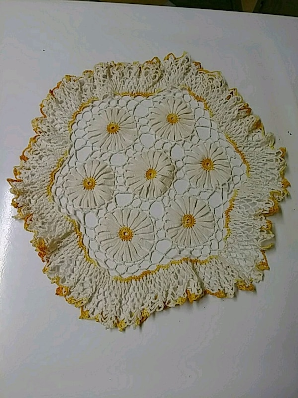Early hand made doily 17""