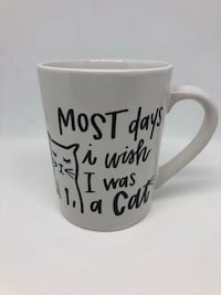 Handmade Coffee Mug I Wish I Was A Cat Shepherdstown, 25443