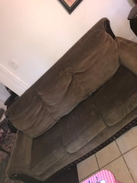 brown suede 3-seat sofa Carrollton, 75006