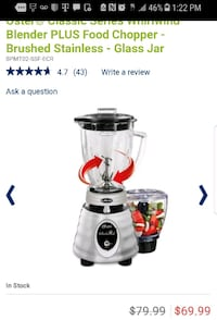 OSTER HERITAGE WHIRLWIND BLENDER plus FOOD CHOPPER Rochester, 14606