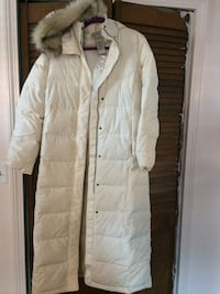 L.L. Bean women's white winter coat.