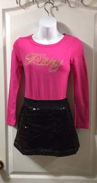 Pink & Black Sequence Dress: Kids Size 10-12 years old Brampton, L7A