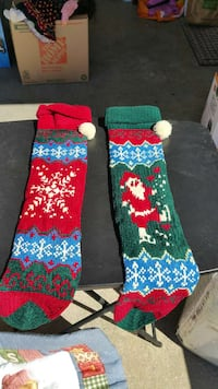 Set of 2 Christmas Stockings (new) Theodore, 36582