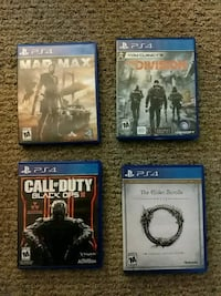 4 ps4 games good condition Concord, 03303