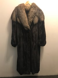 Black Full Length Canadian Mink coat with hat Chicago, 60616
