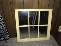 white wooden framed glass window