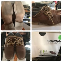 pair of brown leather boots Manteca, 95337