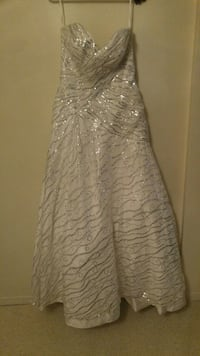 White and silver gown