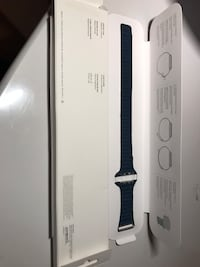 42/44mm Navy blue leather band (official apple) Loures, 1990
