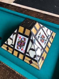 Tiffany style stained glass Poker lamp shade Lorton, 22079