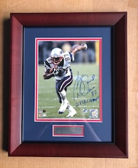 David Givens New England Patriots Autographed 8x10 Framed Photo w/ COA North Billerica, 01862