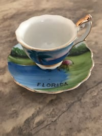 Vintage Hand Painted Miniature Cup & Saucer 781 mi