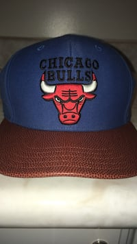 blue and brown chicago bulls snap back cap