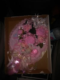 pink and gray baby shower gift set El Paso, 79930