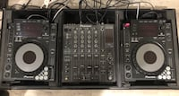 Pair of CDJ 900, DJM 800, Odyssey Flight Case + Rane SL2  + all chords/wires needed Los Angeles, 91411