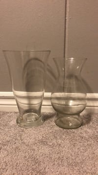 Two Glass Flower Vases Belleville, K8P 3N8