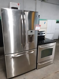 Ge Stainless steel French doors and electric stove Baltimore, 21223