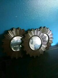 two round silver-colored wall mirrors Kent, 98030