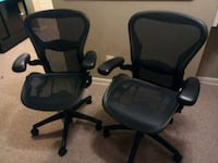 two black rolling office chairs Manassas, 20109