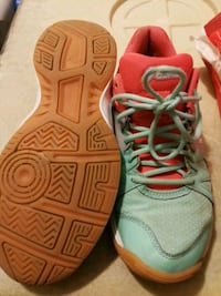 pair of gray-and-orange Nike running shoes Whitchurch-Stouffville, L4A 7V9