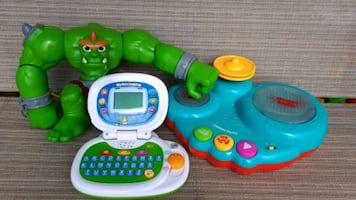 LeapFrog Leaptop, Mini drums, Fisher price monster