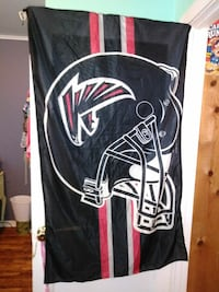 black and red Atlanta Falcons banner