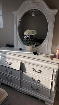 white wooden dresser with mirror Calgary, T3J 0P6