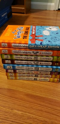 book collection (diary of a wimpy kid, mix, comics)