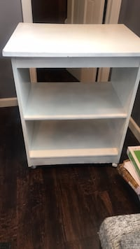 FREE shelf on wheels. Was used for office supplies  Kirkville, 13030