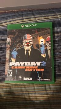 Payday 2 Crimewave Edition Xbox One game case