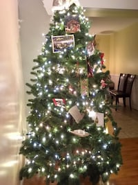 7 ft Artificial Christmas Tree with Lights Manassas