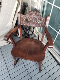 Vintage antique hand carved wooden rocking chair  Toronto, M6S