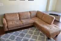 Haney Sectional Couch, L-shapes, Suede-like Fabric Arlington, 22201