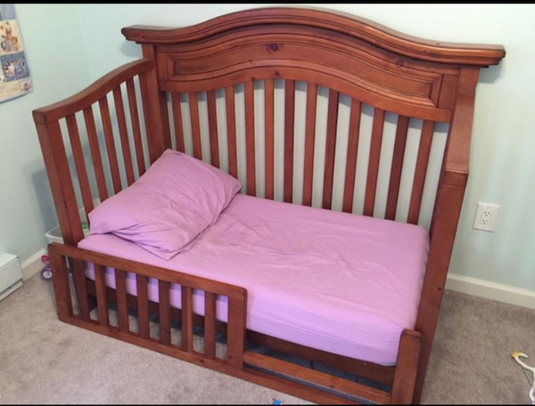 Bonavita Sheffield Lifestyle Crib Shown As A Toddler Bed Dresser Can Be Used