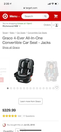 Graco 4-Ever All-In-One Convertible Car Seat - Jacks Henrico, 23233