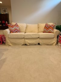PB Basic Roll Arm Slipcovered Sofa
