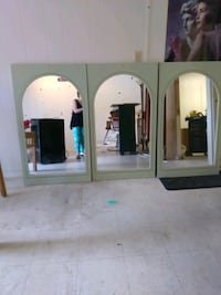 Three matching mirrors 28 W x48 H Formica framed Tampa, 33612