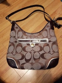 Authentic Coach purse with leather trim and handle Toronto, M9V 3V1