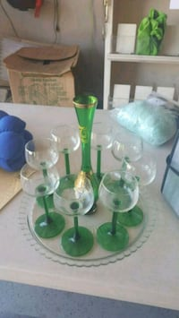 green and white glass pitcher Chestermere, T1X 1S5