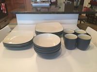 white and blue ceramic dinnerware set Silver Spring