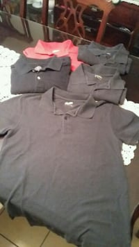 4 black and 1 red polo shirts.all for  $10.00 Brownsville, 78521