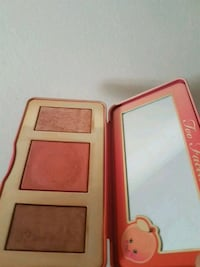 Peach glow too faced palette Montreal, H2P