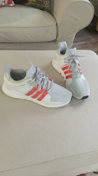 pair of white-and-pink Adidas running shoes Monroe, 28112