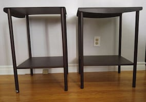 Furniture: Solid Metal End/Night Tables (2 Pc Set)