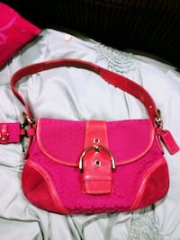pink leather 2-way bag Brooklyn Park