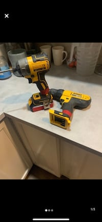 Dewalt brushless impact drill/drill/batteries and charger