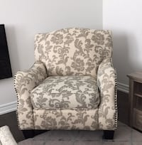 white and brown floral sofa chair Vaughan, L4L